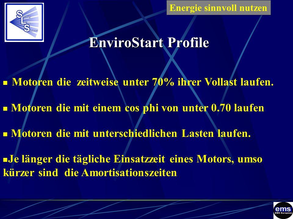 EnviroStart Profile Motoren die zeitweise unter 70% ihrer Vollast laufen.
