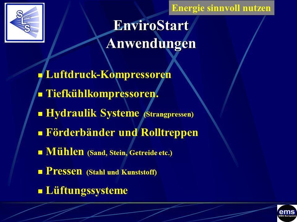 EnviroStart Anwendungen Luftdruck-Kompressoren Tiefkühlkompressoren.