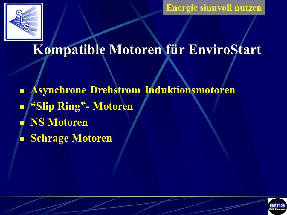 Kompatible Motoren für EnviroStart Asynchrone Drehstrom Induktionsmotoren Slip Ring - Motoren NS Motoren Schrage Motoren Energie sinnvoll nutzenES