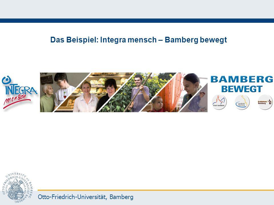 Otto-Friedrich-Universität, Bamberg Das Beispiel: Integra mensch – Bamberg bewegt