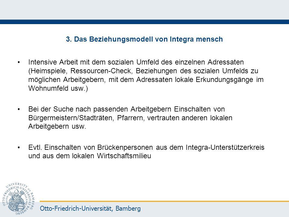 Otto-Friedrich-Universität, Bamberg 3. Das Beziehungsmodell von Integra mensch Intensive Arbeit mit dem sozialen Umfeld des einzelnen Adressaten (Heim