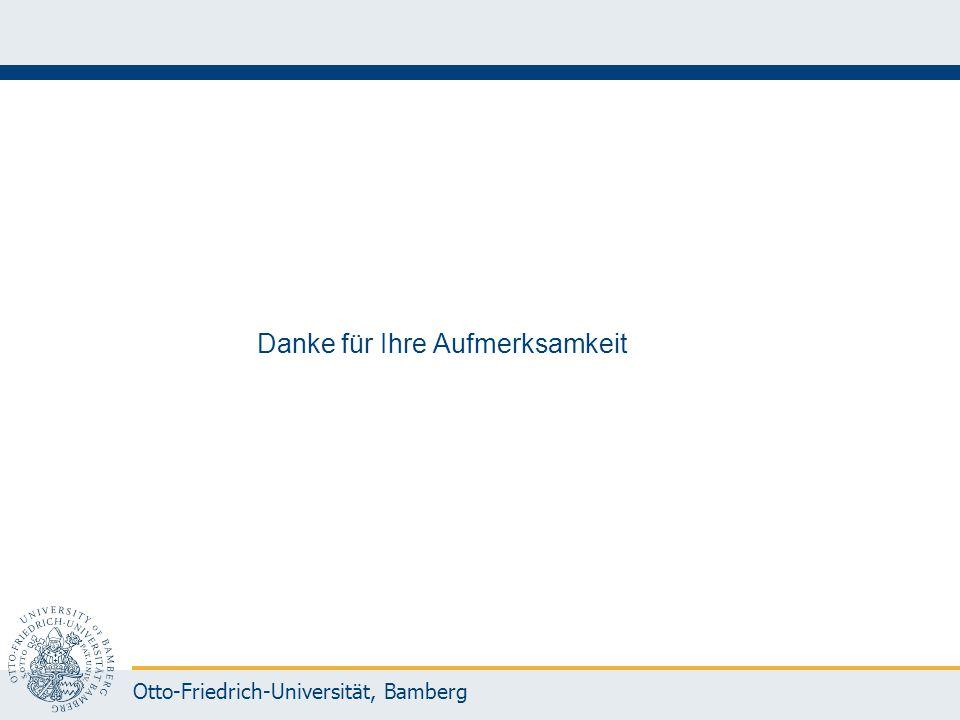 Otto-Friedrich-Universität, Bamberg Danke für Ihre Aufmerksamkeit