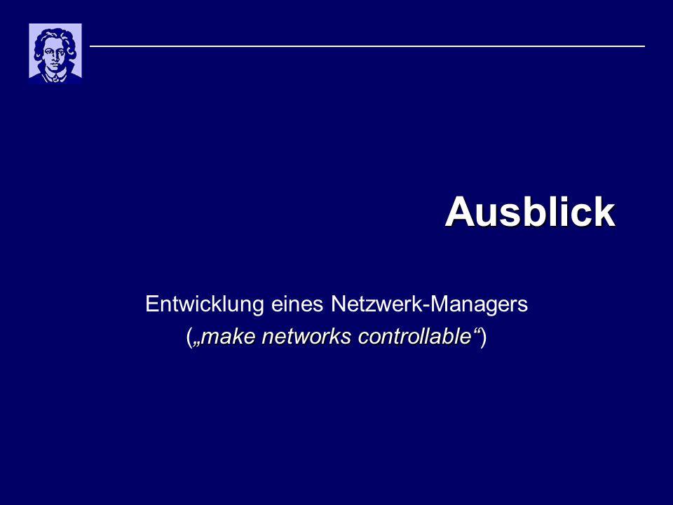 """Ausblick Entwicklung eines Netzwerk-Managers """"make networks controllable (""""make networks controllable )"""