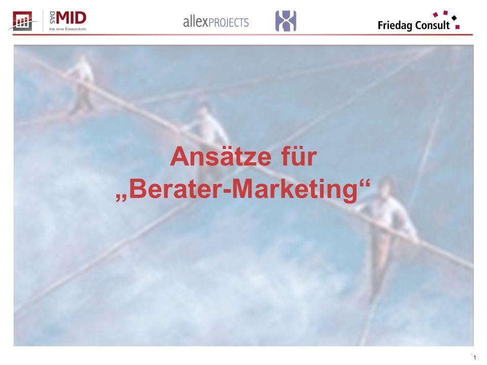"""1 Ansätze für """"Berater-Marketing"""
