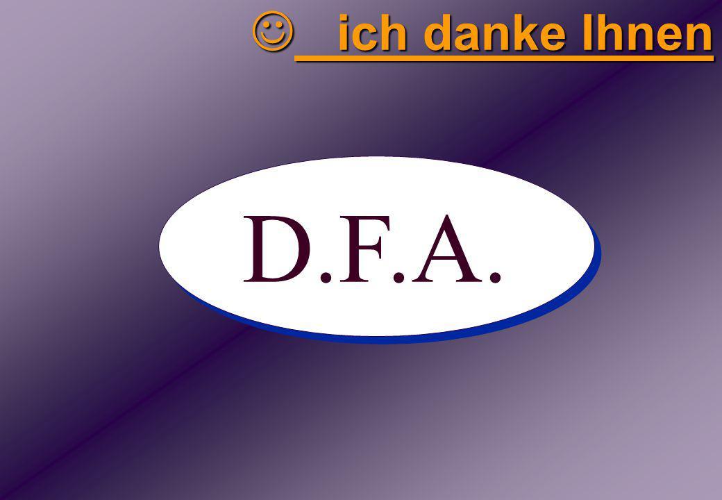 D.F.A. ich danke Ihnen ich danke Ihnen