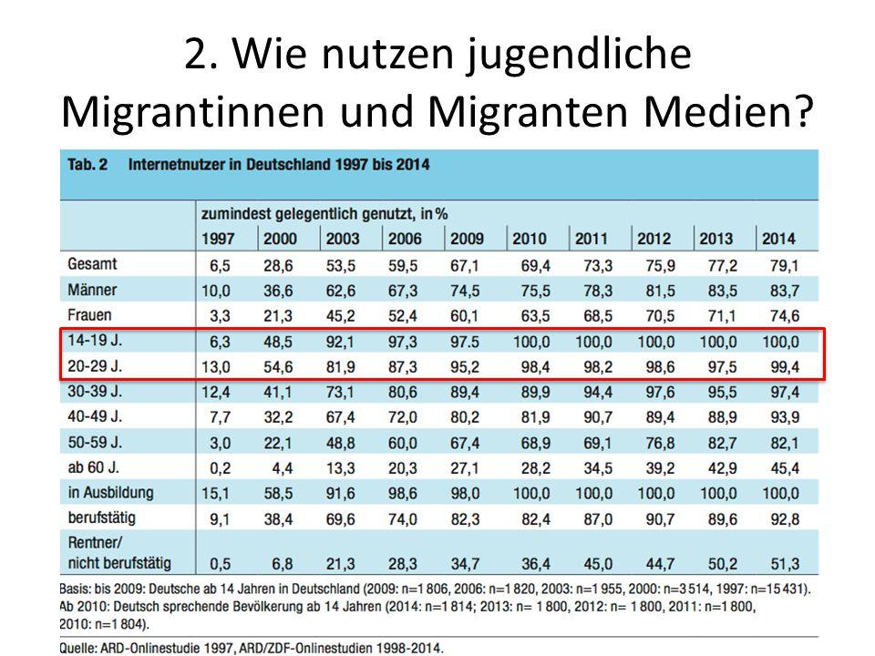 2. Wie nutzen jugendliche Migrantinnen und Migranten Medien