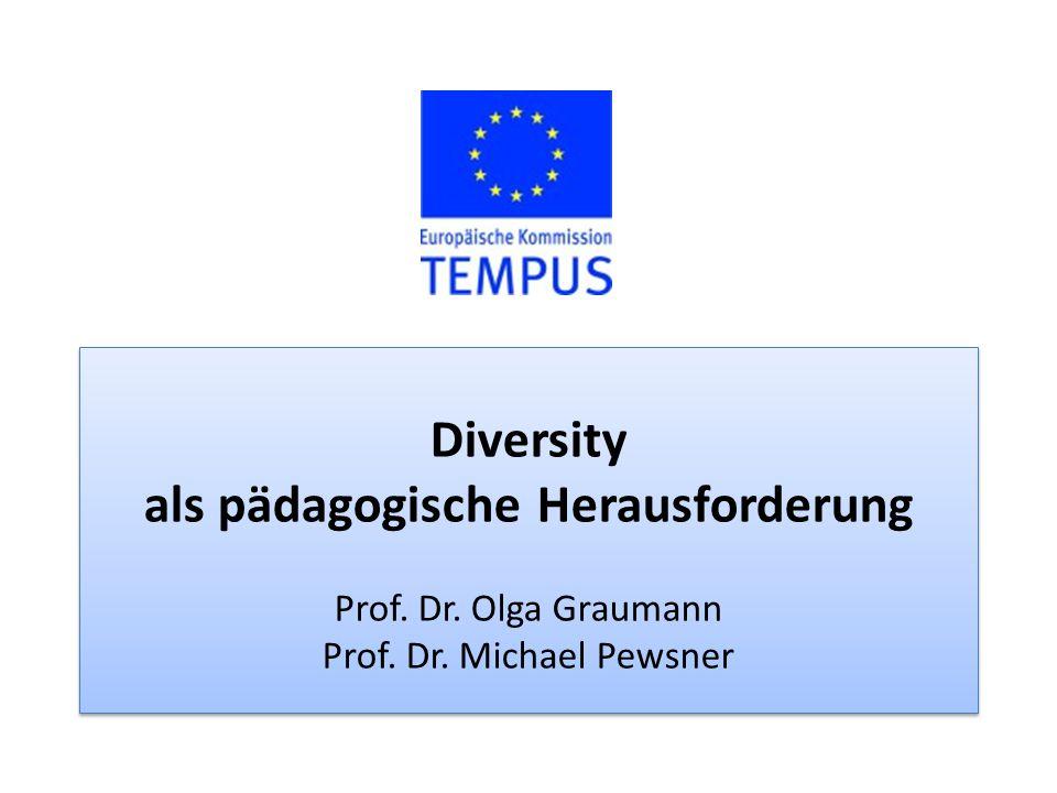 Diversity als pädagogische Herausforderung Prof. Dr.