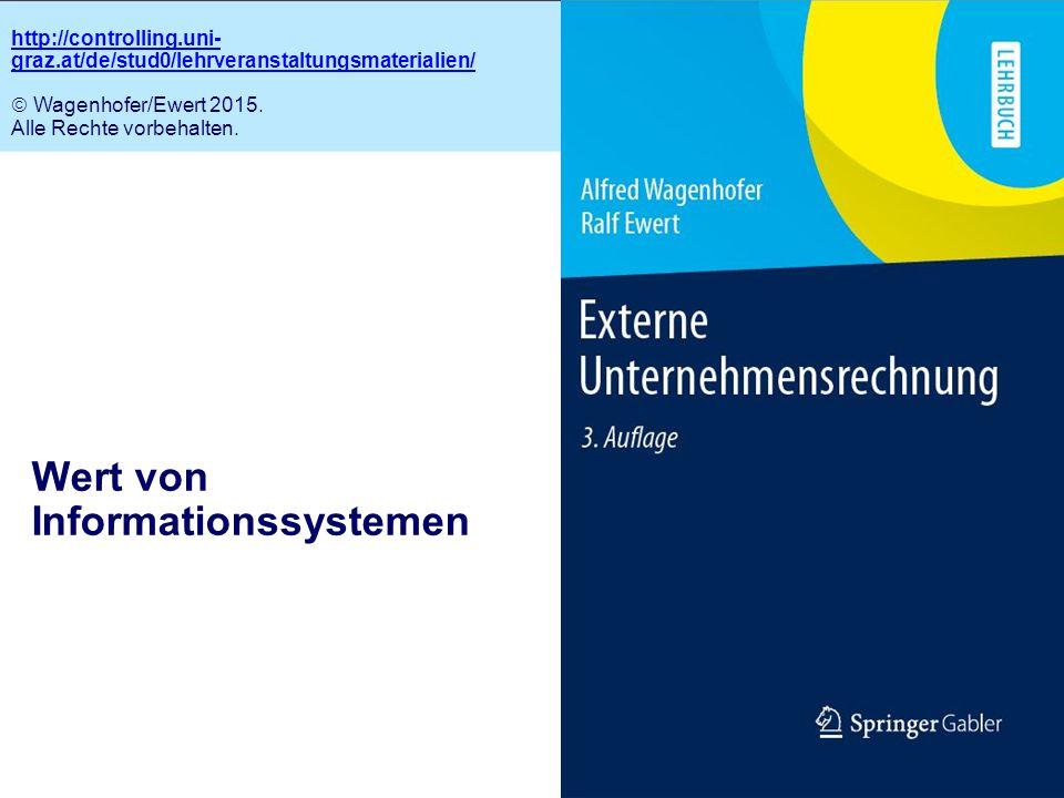 2.1 Wert von Informationssystemen http://controlling.uni- graz.at/de/stud0/lehrveranstaltungsmaterialien/  Wagenhofer/Ewert 2015. Alle Rechte vorbeha