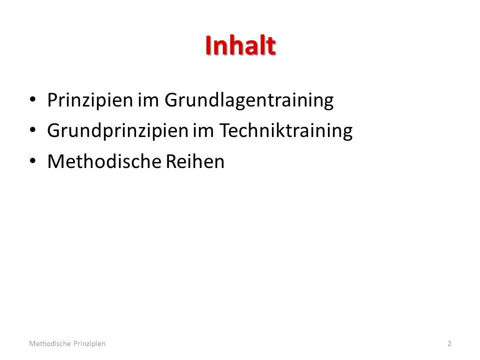 Prinzipien im Grundlagentraining Grundlagentraining  bis ca.