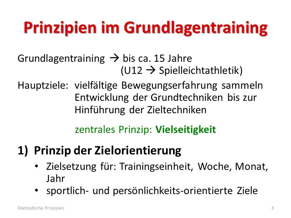 Methodische Reihen - Beispiele Diskuswurf: Standwurf mit versch.