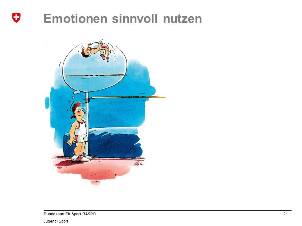 21 Bundesamt für Sport BASPO Jugend+Sport Emotionen sinnvoll nutzen