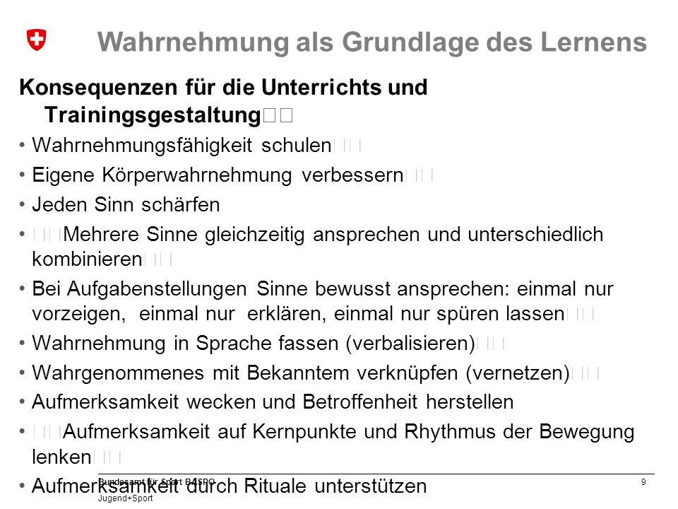 10 Bundesamt für Sport BASPO Jugend+Sport Vererbung und soziale Umwelt Genies werden nicht geboren.