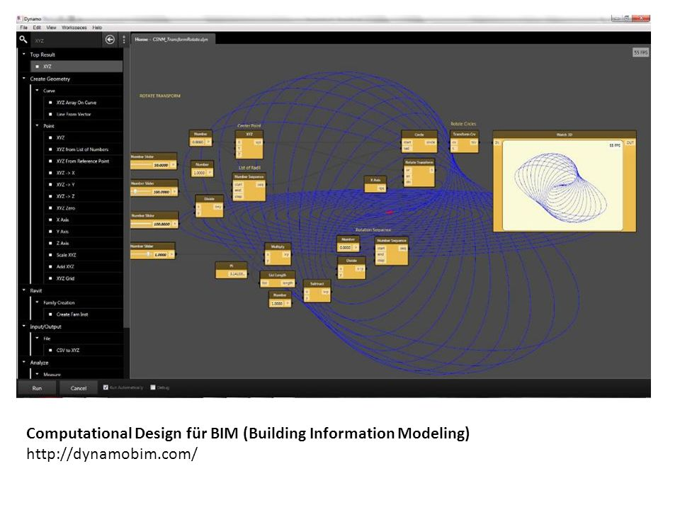 Computational Design für BIM (Building Information Modeling) http://dynamobim.com/