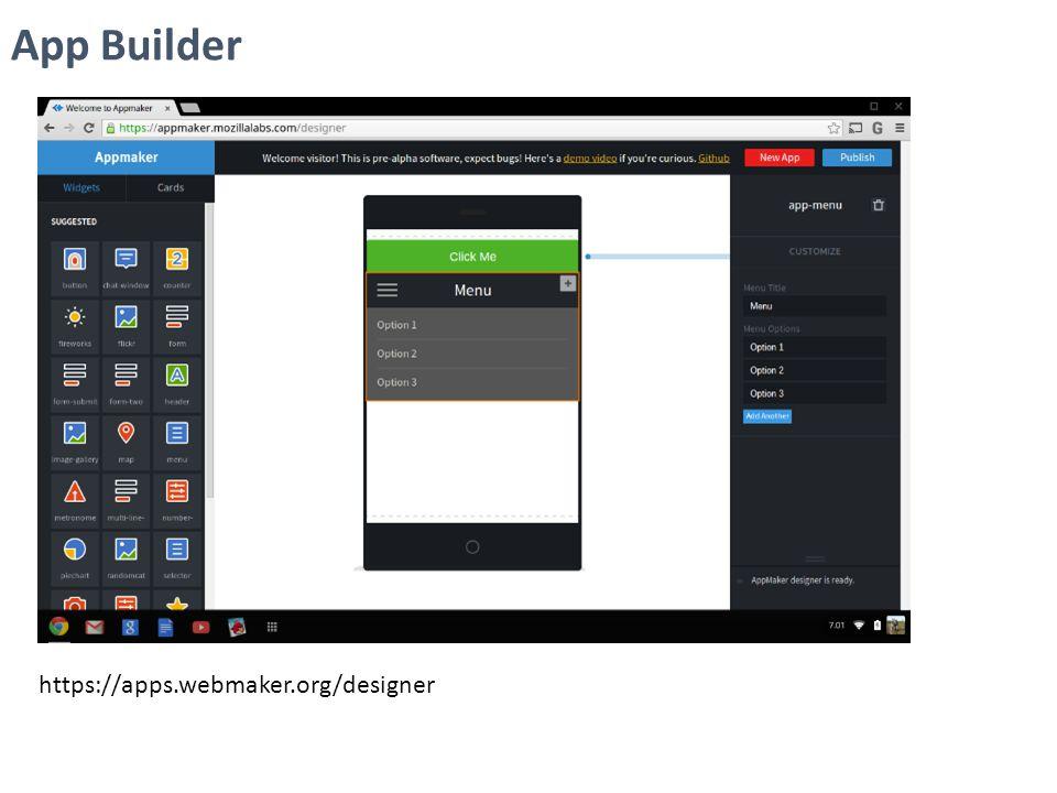 https://apps.webmaker.org/designer App Builder
