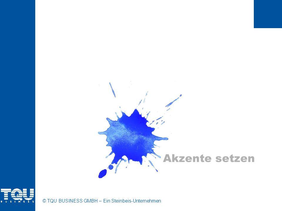 © TQU BUSINESS GMBH – Ein Steinbeis-Unternehmen Akzente setzen