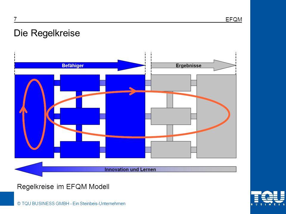 © TQU BUSINESS GMBH - Ein Steinbeis-Unternehmen EFQM 7 Regelkreise im EFQM Modell Die Regelkreise
