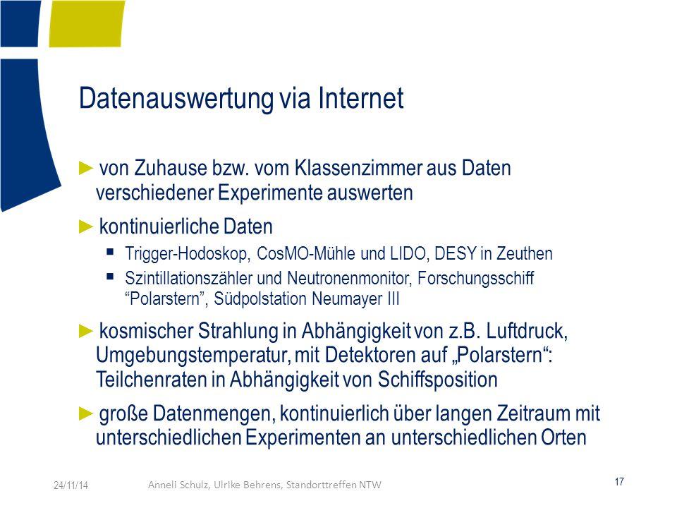 Datenauswertung via Internet ► von Zuhause bzw.