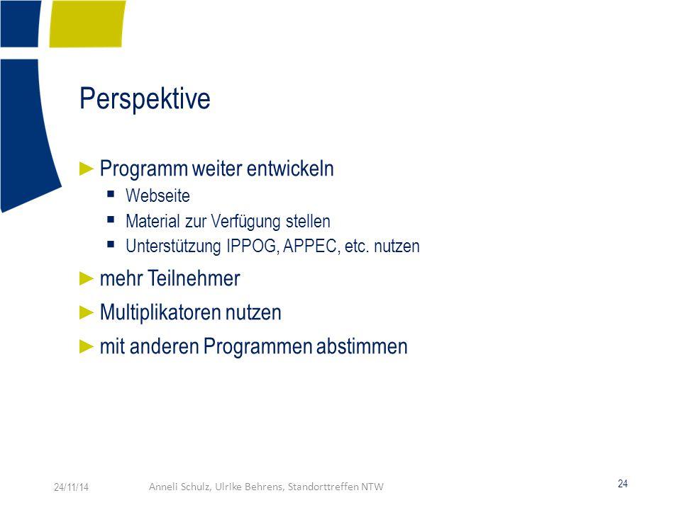 Perspektive ► Programm weiter entwickeln  Webseite  Material zur Verfügung stellen  Unterstützung IPPOG, APPEC, etc.