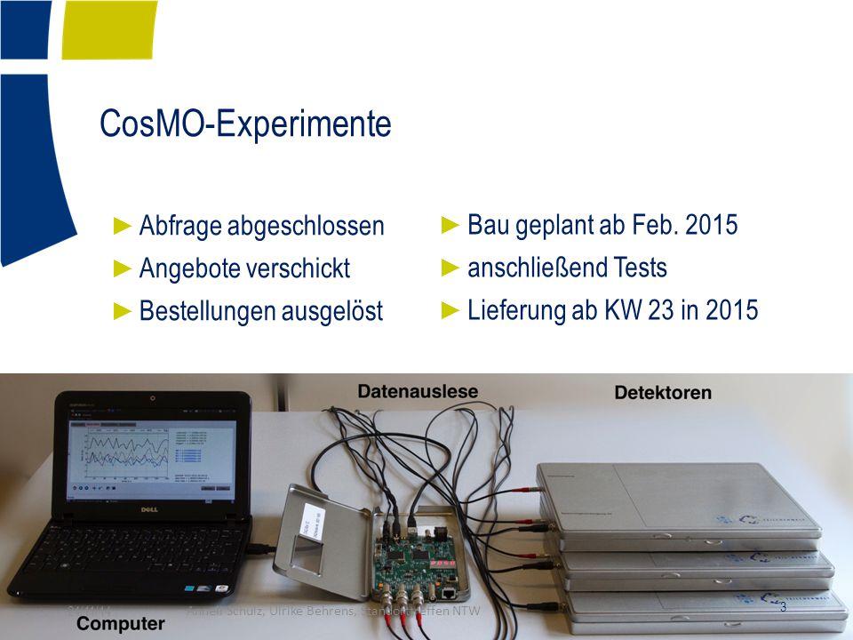 CosMO-Experimente ► Bau geplant ab Feb.