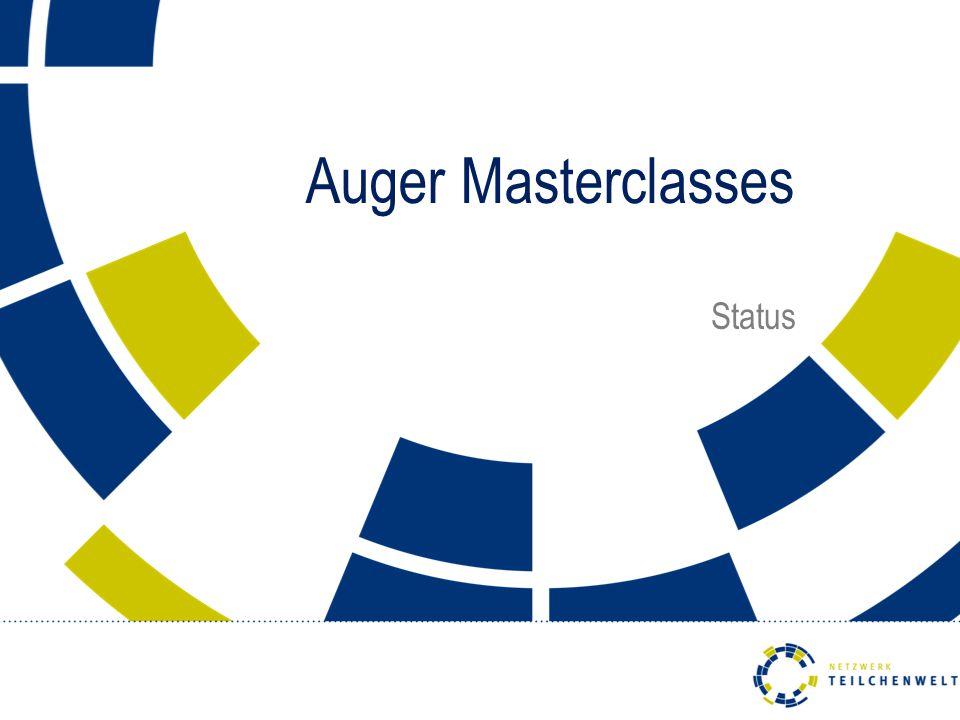 Auger Masterclasses Status