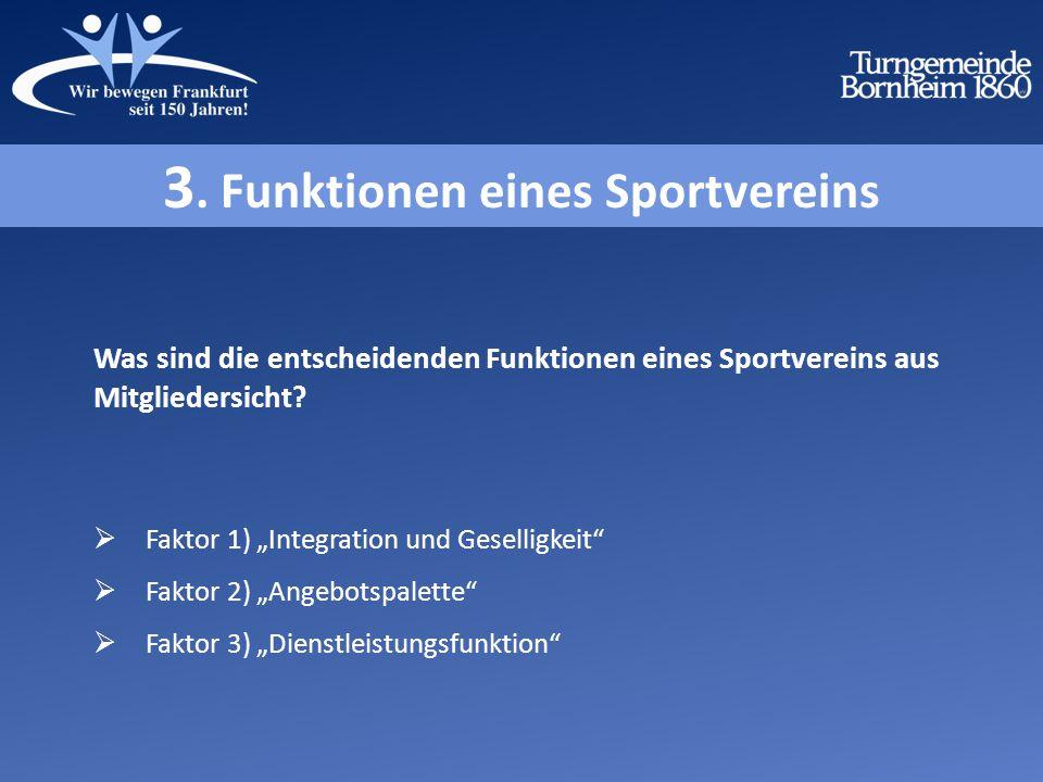 Was sind die entscheidenden Funktionen eines Sportvereins aus Mitgliedersicht.