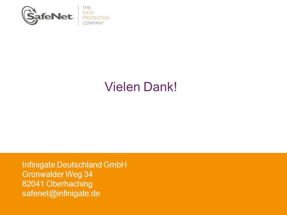 Insert Your Name Insert Your Title Insert Date Vielen Dank! Infinigate Deutschland GmbH Grünwalder Weg 34 82041 Oberhaching safenet@infinigate.de