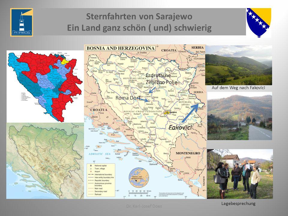 Dr. Karl-Josef Does Fakovici Auf dem Weg nach Fakovici Roma Dorf Erdrutsche Zeljezno Polje Lagebesprechung Sternfahrten von Sarajewo Ein Land ganz sch