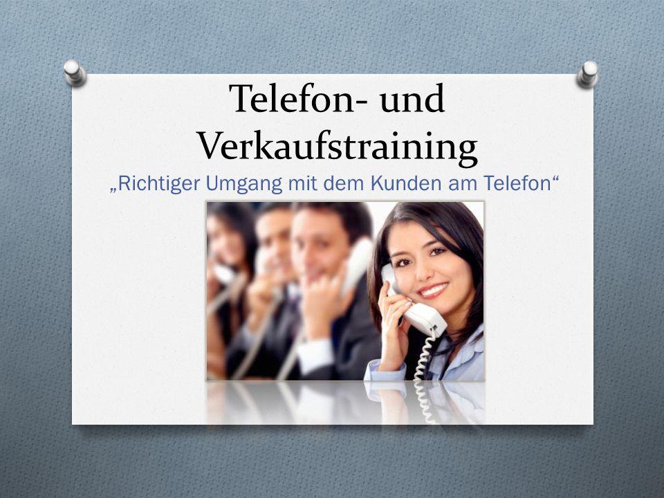 "Telefon- und Verkaufstraining ""Richtiger Umgang mit dem Kunden am Telefon"