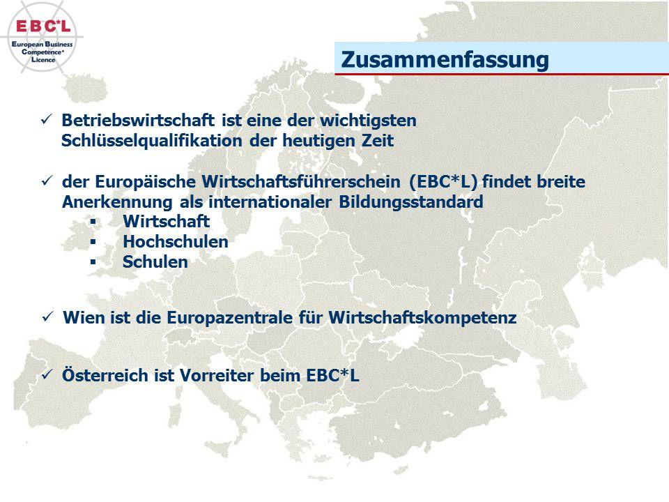 Zusammenfassung der Europäische Wirtschaftsführerschein (EBC*L) findet breite Anerkennung als internationaler Bildungsstandard  Wirtschaft  Hochschu