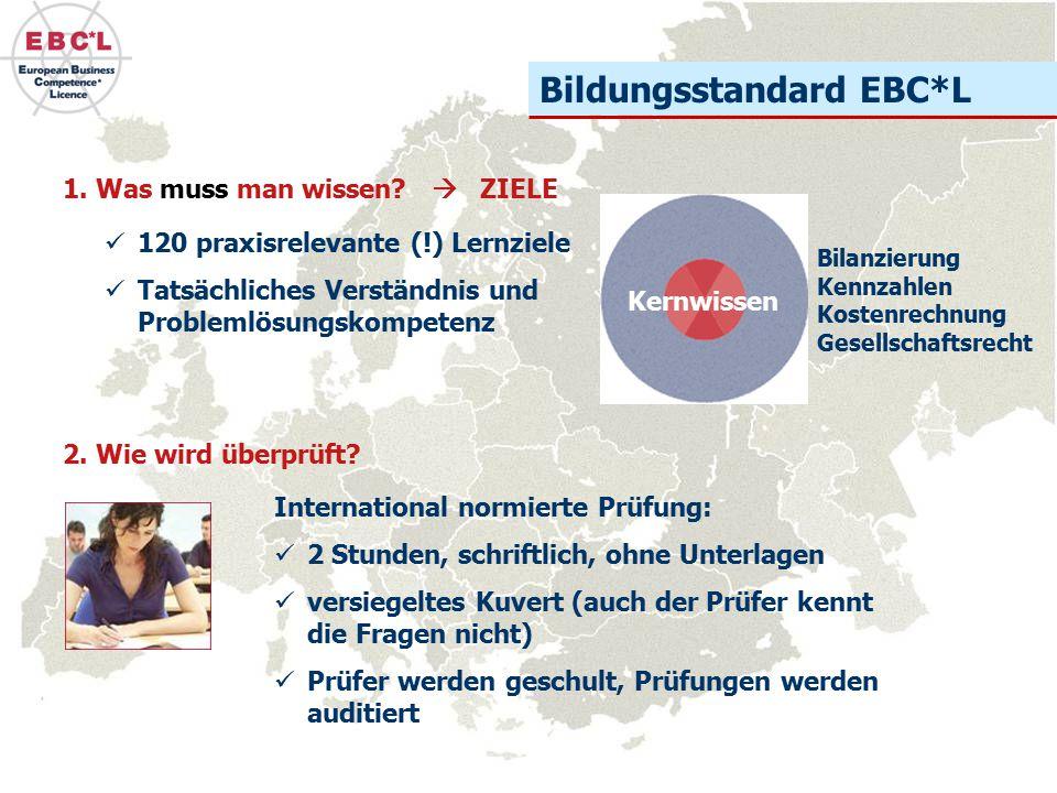 Zusammenfassung der Europäische Wirtschaftsführerschein (EBC*L) findet breite Anerkennung als internationaler Bildungsstandard  Wirtschaft  Hochschulen  Schulen Wien ist die Europazentrale für Wirtschaftskompetenz Österreich ist Vorreiter beim EBC*L Betriebswirtschaft ist eine der wichtigsten Schlüsselqualifikation der heutigen Zeit