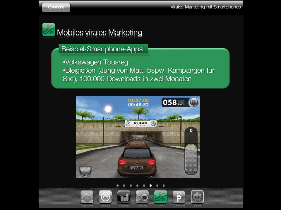 Virales Marketing mit Smartphones OnwerkBeispiel-Smartphone-Apps Volkswagen Touareg Volkswagen Touareg Bleigießen (Jung von Matt, bspw.