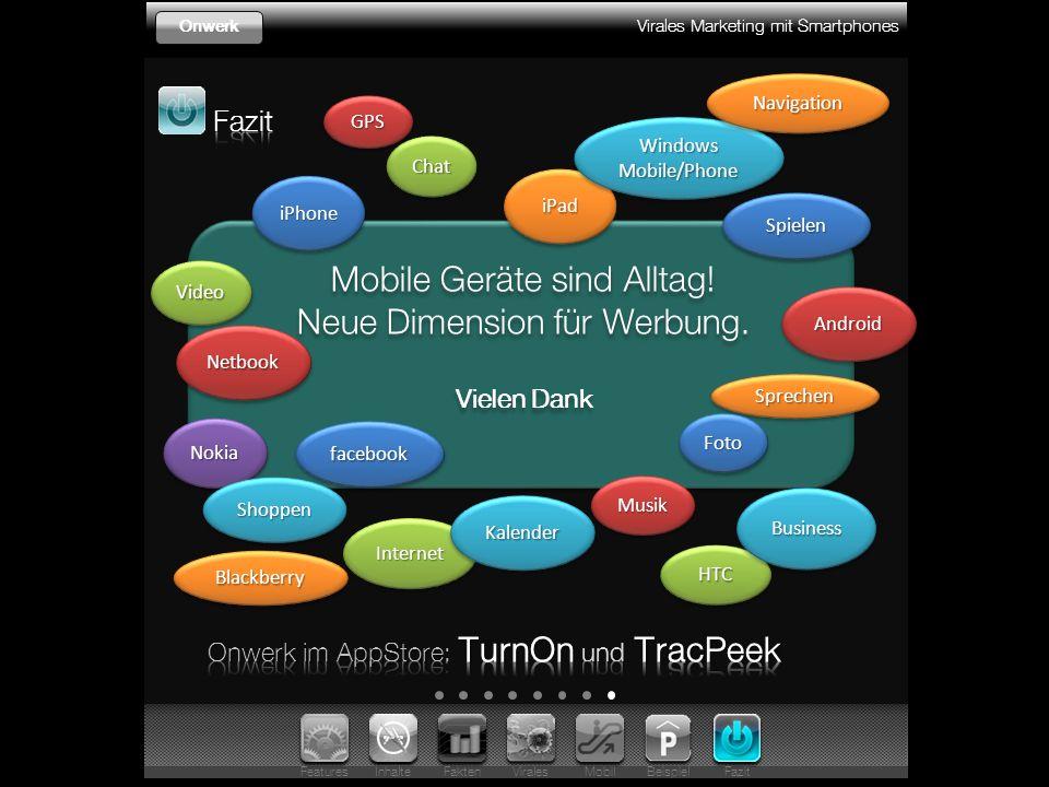 Virales Marketing mit Smartphones Onwerk Mobile Geräte sind Alltag.