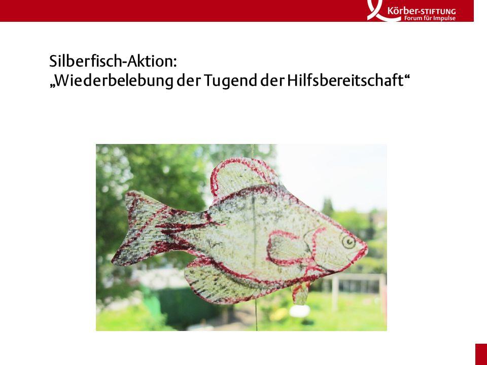 """Silberfisch-Aktion: """"Wiederbelebung der Tugend der Hilfsbereitschaft"""
