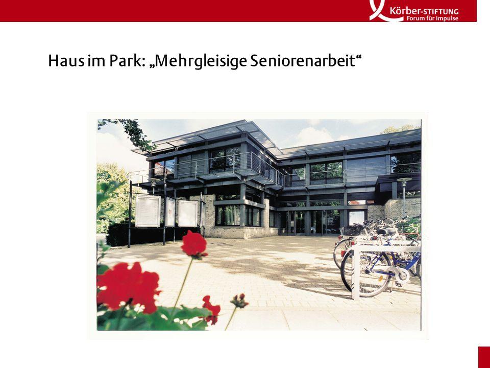 """Haus im Park: """"Mehrgleisige Seniorenarbeit"""