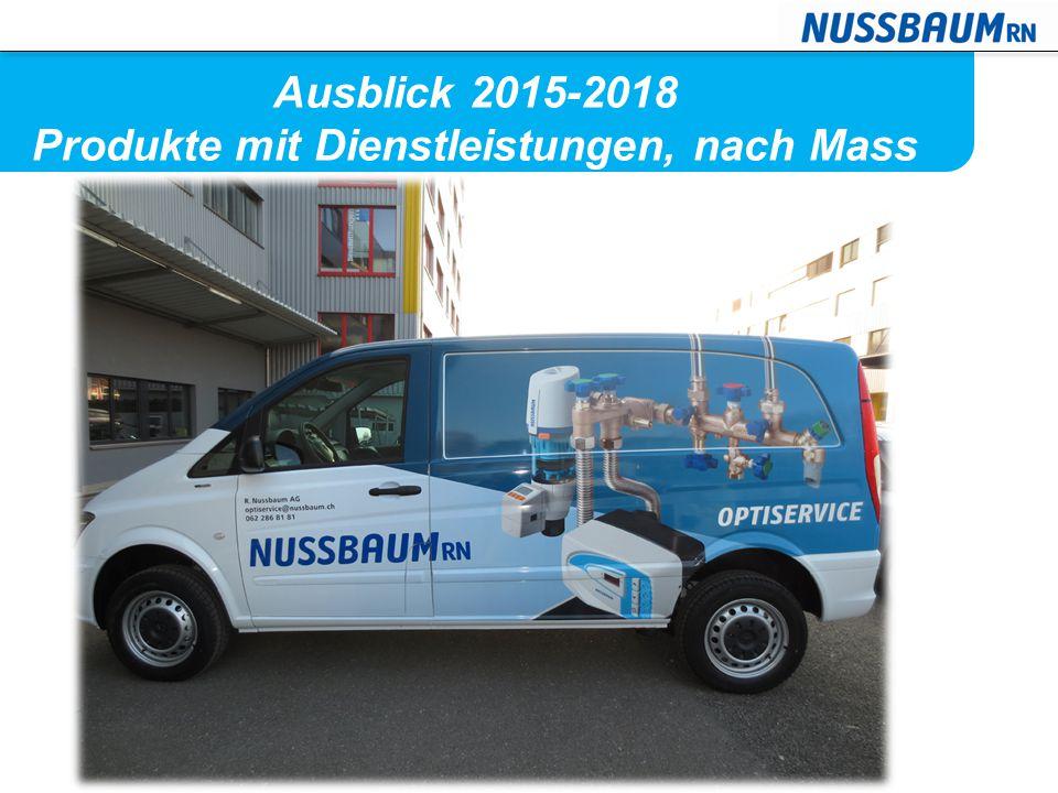 Ausblick 2015-2018 Produkte mit Dienstleistungen, nach Mass