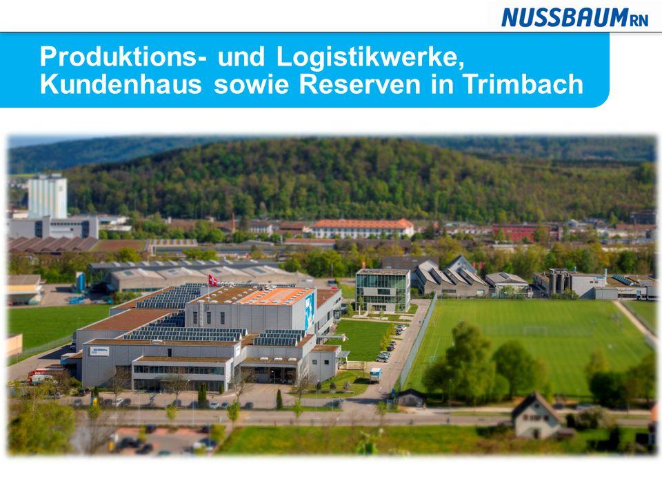 Produktions- und Logistikwerke, Kundenhaus sowie Reserven in Trimbach