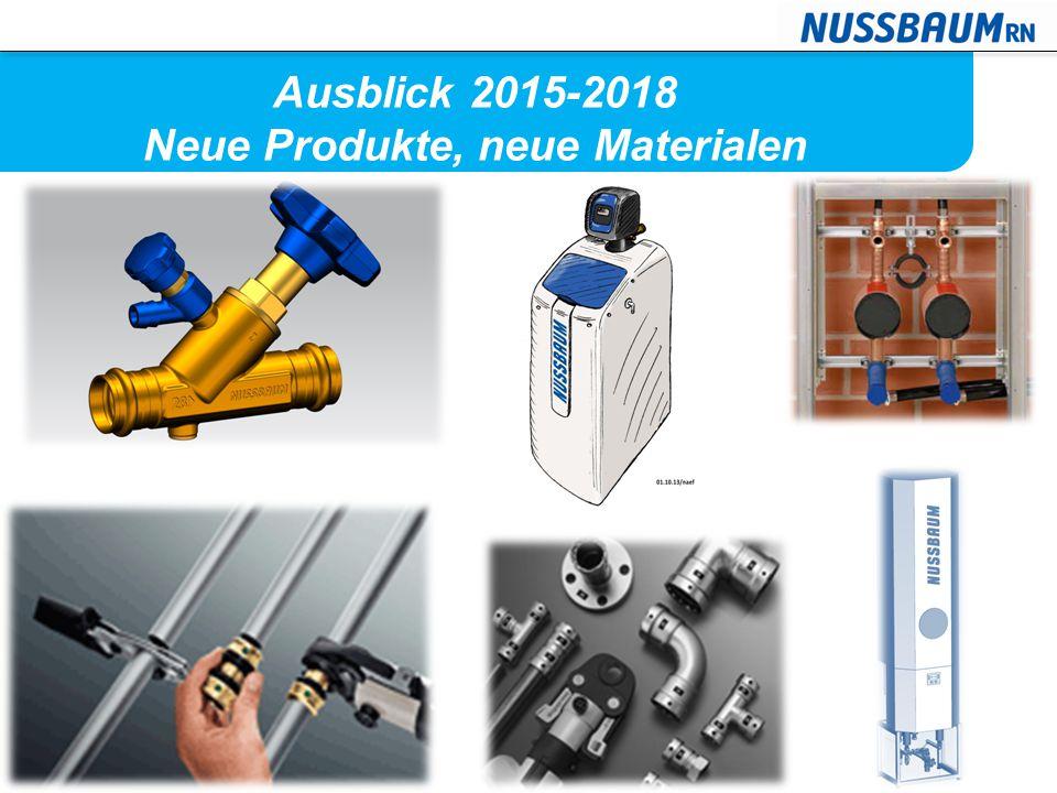 Ausblick 2015-2018 Neue Produkte, neue Materialen
