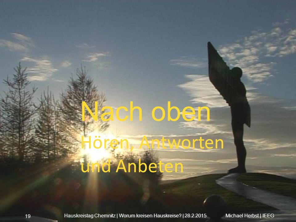 Nach oben Hören, Antworten und Anbeten Michael Herbst | IEEGHauskreistag Chemnitz | Worum kreisen Hauskreise? | 28.2.2015 19