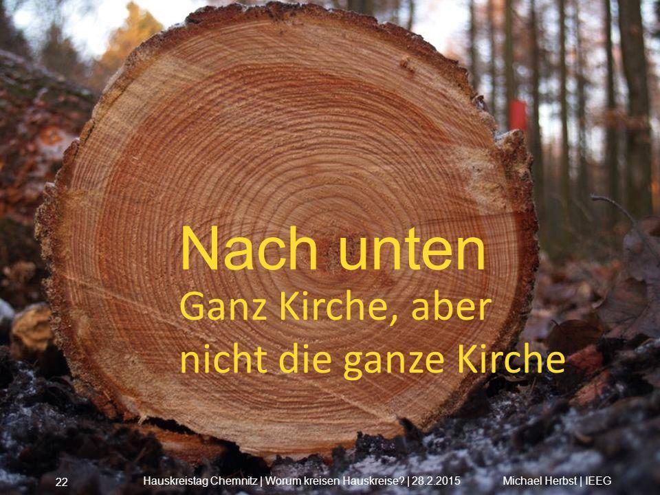 Nach unten Ganz Kirche, aber nicht die ganze Kirche Michael Herbst | IEEGHauskreistag Chemnitz | Worum kreisen Hauskreise? | 28.2.2015 22