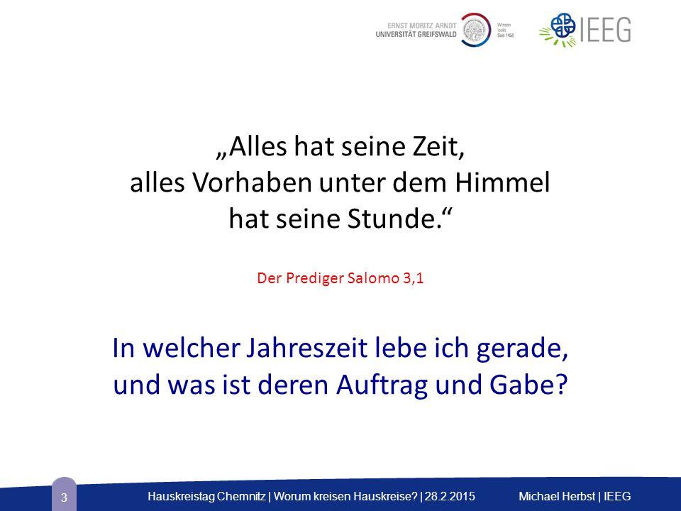 Vier Merkmale vitaler Hauskreise Kapitel 4 Michael Herbst | IEEGHauskreistag Chemnitz | Worum kreisen Hauskreise.