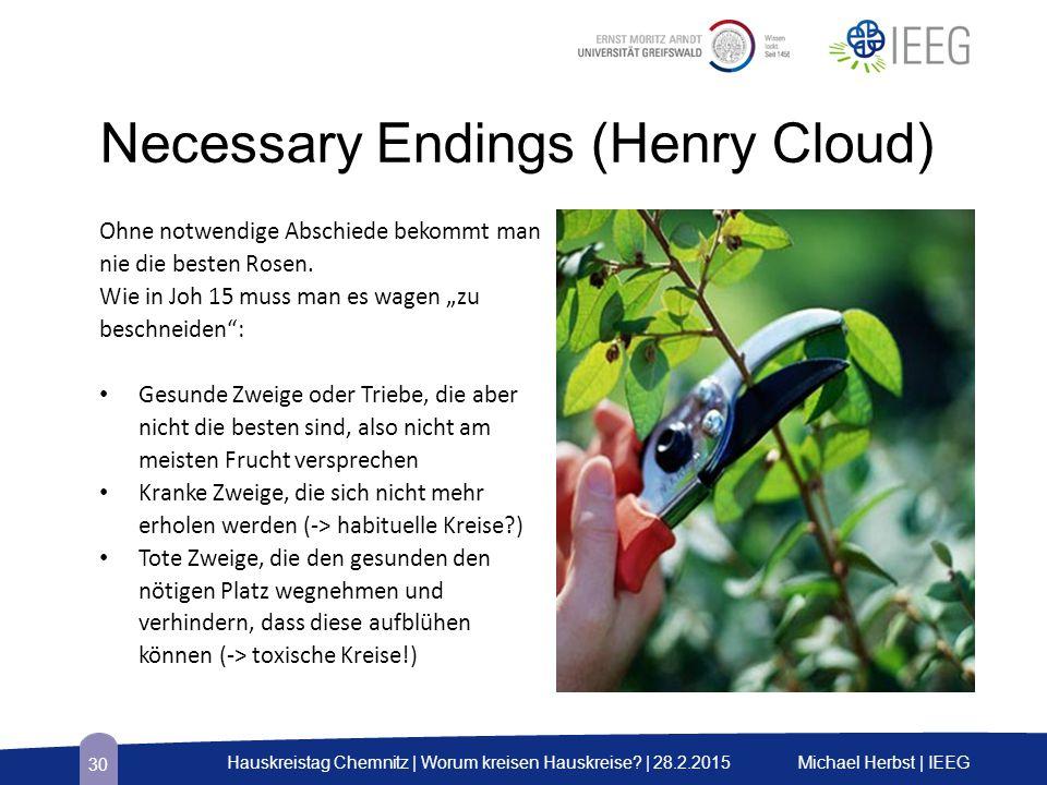 """Necessary Endings (Henry Cloud) Ohne notwendige Abschiede bekommt man nie die besten Rosen. Wie in Joh 15 muss man es wagen """"zu beschneiden"""": Gesunde"""