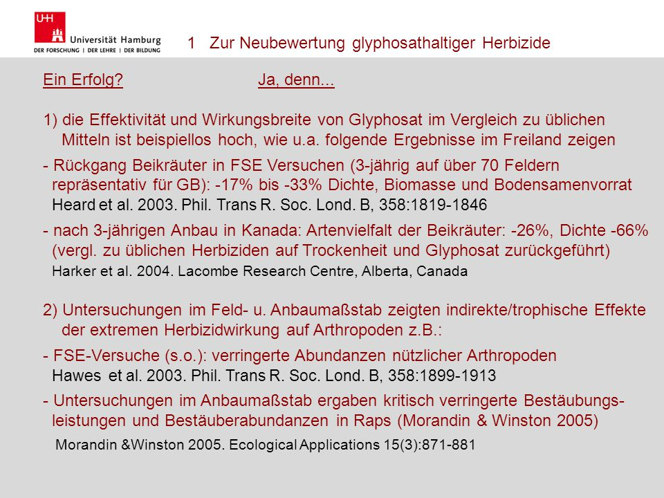 Name Herausforderungen einer nachhaltigen Landnutzung 17.10.2011 5 Forschungsschwerpunkt Biotechnik, Gesellschaft und Umwelt FG Landwirtschaft Gesine Schütte Ich habe die aktuelle Formatvorlage der Uni Hamburg herangezogen.
