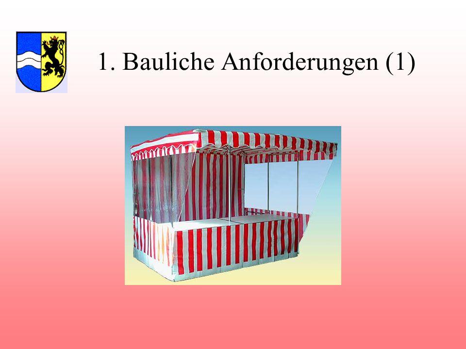 1. Bauliche Anforderungen (1)