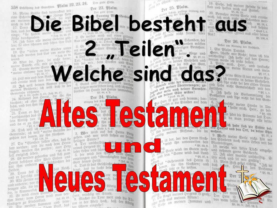 """Die Bibel besteht aus 2 """"Teilen"""". Welche sind das?"""