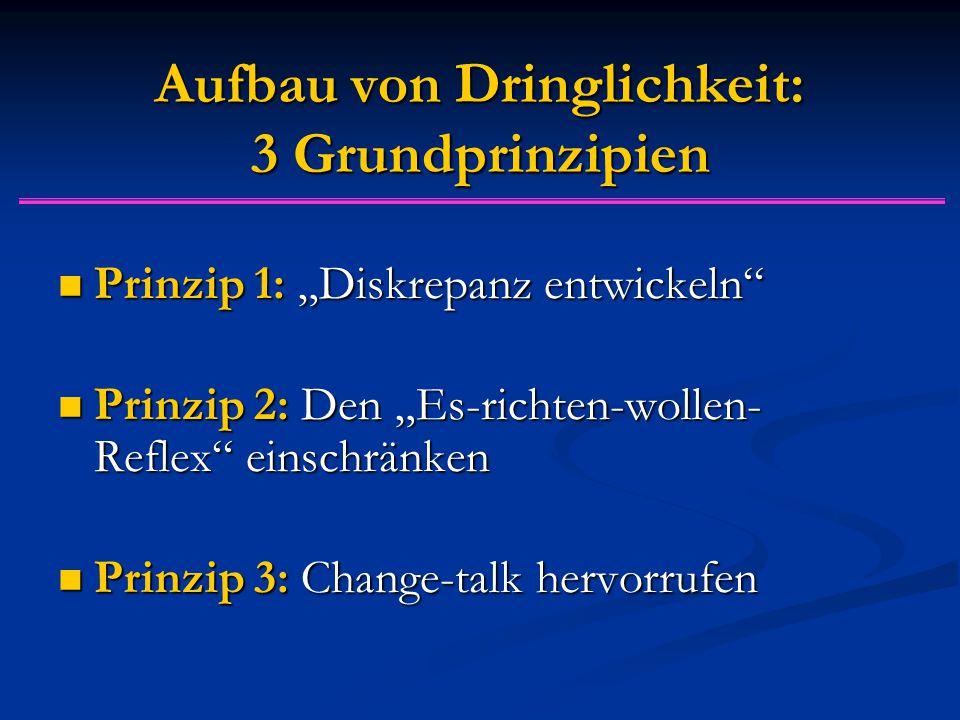 """Aufbau von Dringlichkeit: 3 Grundprinzipien Prinzip 1: """"Diskrepanz entwickeln"""" Prinzip 1: """"Diskrepanz entwickeln"""" Prinzip 2: Den """"Es-richten-wollen- R"""