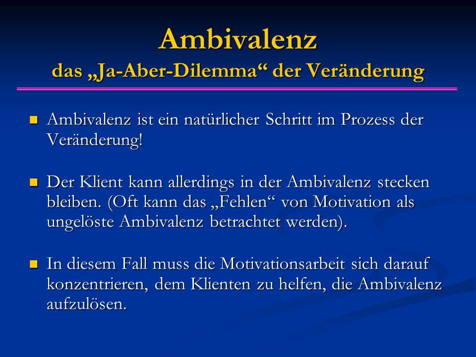 """Ambivalenz das """"Ja-Aber-Dilemma"""" der Veränderung Ambivalenz ist ein natürlicher Schritt im Prozess der Veränderung! Ambivalenz ist ein natürlicher Sch"""