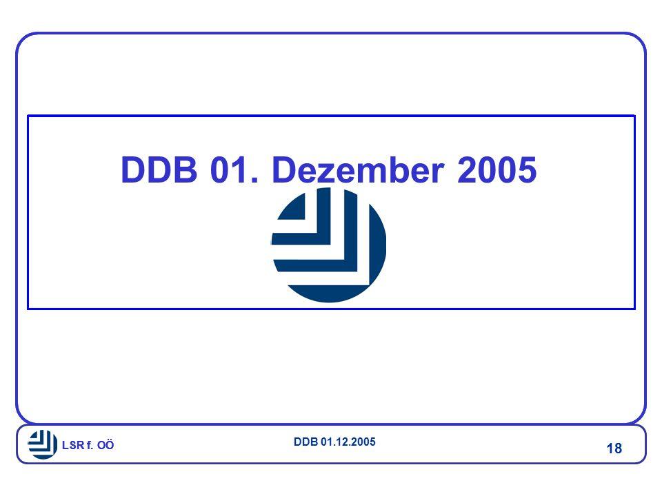 LSR f. OÖ DDB 01.12.2005 18 LSR f. OÖ DDB 01. Dezember 2005