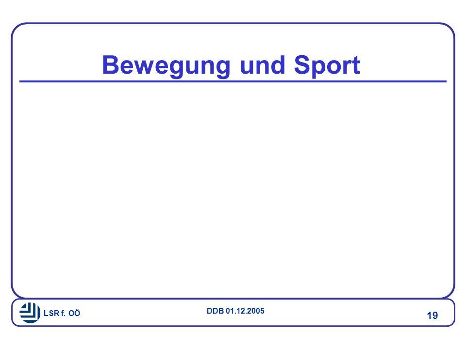 LSR f. OÖ DDB 01.12.2005 19 Bewegung und Sport