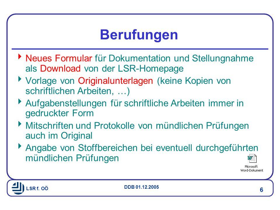 LSR f. OÖ DDB 01.12.2005 17 Gender / EU