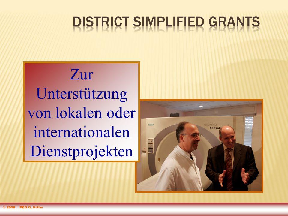 Zur Unterstützung von lokalen oder internationalen Dienstprojekten